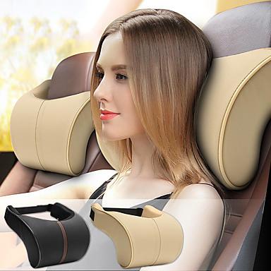 voordelige Auto-interieur accessoires-auto hoofdsteunen lederen traagschuim auto kussen kussen hoofdsteun