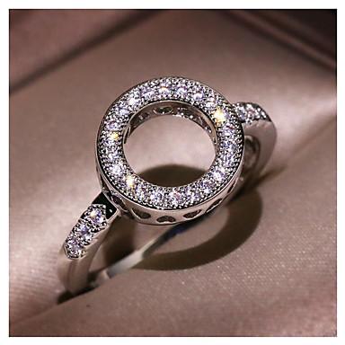 voordelige Dames Sieraden-Dames Ring Kubieke Zirkonia 1pc Zilver Messinki Geometrische vorm Modieus Dagelijks Feestdagen Sieraden meetkundig Ster Cool
