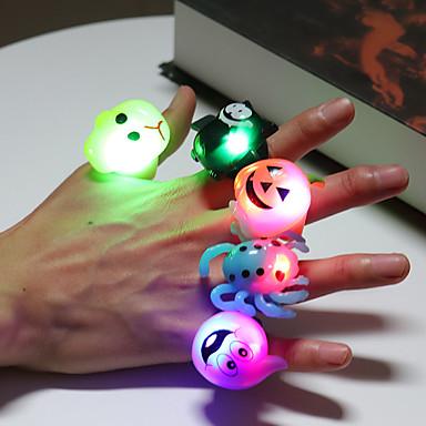 voordelige Dames Sieraden-Dames Ring 1pc Zwart Paars Oranje Muovi Onregelmatig Cartoon Feest Halloween Sieraden Dier Schattig