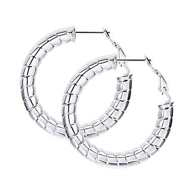 voordelige Dames Sieraden-Dames Oorpiercing Ring oorbellen meetkundig Twist Circle Statement Modieus Roestvast staal oorbellen Sieraden Zwart / Goud / Zilver Voor Feest Lahja Dagelijks Festival 1 paar