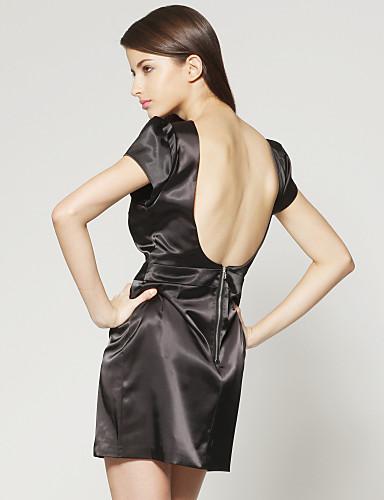 Unique Shoulder Shape Back Bared Dress / Women's Dresses (1802BC239-0853)