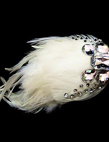 billige Bryllup- & Eventsalg-fjær blomster headpiece bryllupsfesten elegant feminin stil