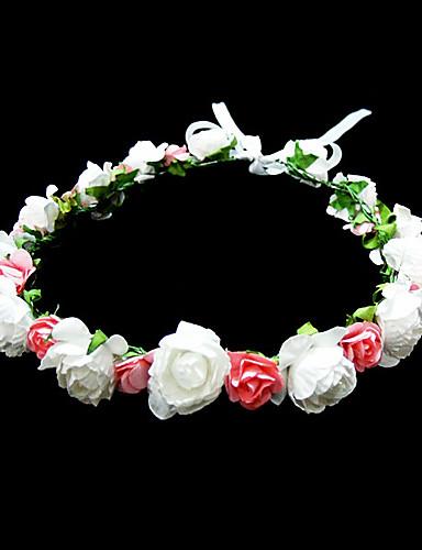 baratos Menina das Flores-Cristal / Tecido / Papel Tiaras / Flores com 1 Casamento / Ocasião Especial / Festa / Noite Capacete