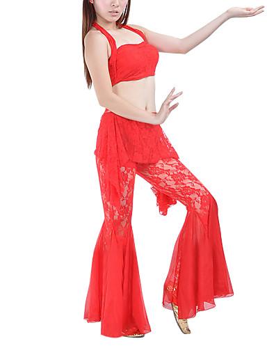 Tenue(Noire / Bleu / Fuchsia / Rouge / Jaune,Dentelle,Danse du ventre)Danse du ventre- pourFemme Entraînement Danse du ventrePrintemps /