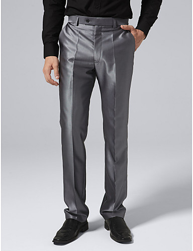 ocelové šedý oblek kalhoty