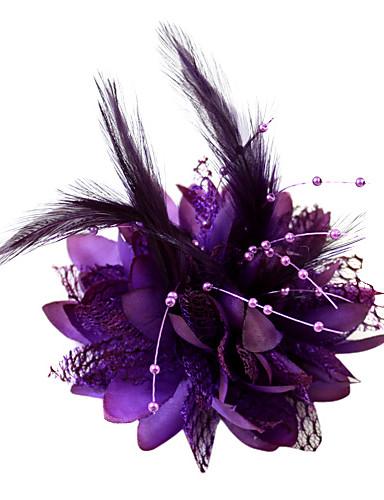 billige Hatte & Imponeringer-Krystall / Fjær / Tøy Tiaras / fascinators / blomster med 1 Bryllup / Spesiell Leilighet / Fest / aften Hodeplagg