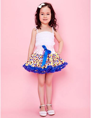 Ribbon Bow Skirt With Polka Dots