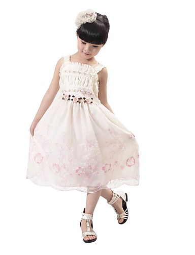 Nice A-line Square Lace Girl Dress & Dance Dress