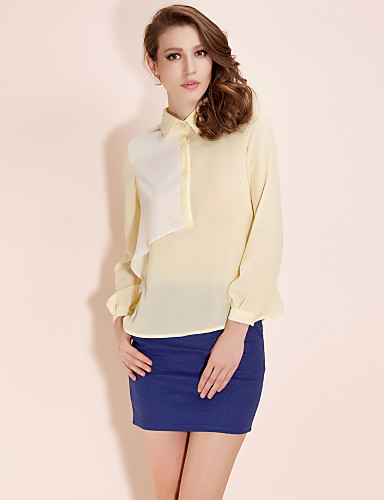 ts fargeblokk struktur bluse skjorte