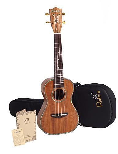 povoljno Žičani instrumenti-Rainie - (C50) stručno-grade čvrste bagrema Koa koncert ukulele s koncert torbu / tuner (pearl obvezujuća)