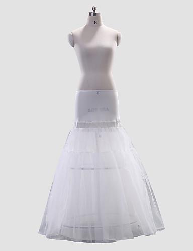abordables Dessous de Robe de Mariage-Mariage Occasion spéciale Déshabillés Polyester Spandex Ras du Sol Robe trapèze avec
