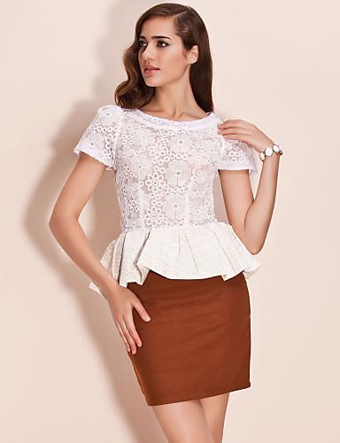 TS Lace Embroidery Ruffle Blouse Shirt