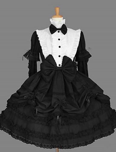 c7ac1e5f640 Princess Gothic Lolita Dress Classic Lolita Dress Women s Dress Cosplay  Black Long Sleeve Medium Length Costumes