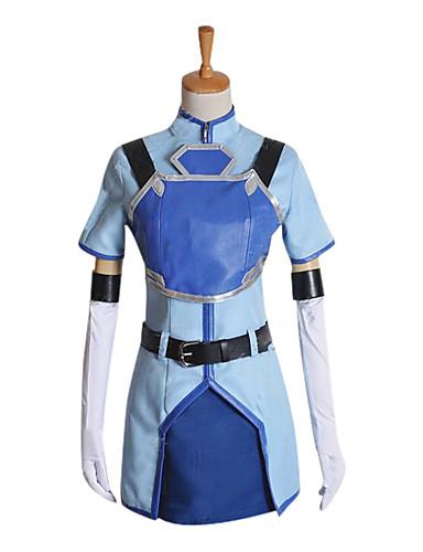 voordelige Cosplay & Kostuums-geinspireerd door Sword Art Online Sachi Anime Cosplaykostuums Cosplay Kostuums Korte mouw Jas Hemd Handschoenen Riem Borstplaat Voor