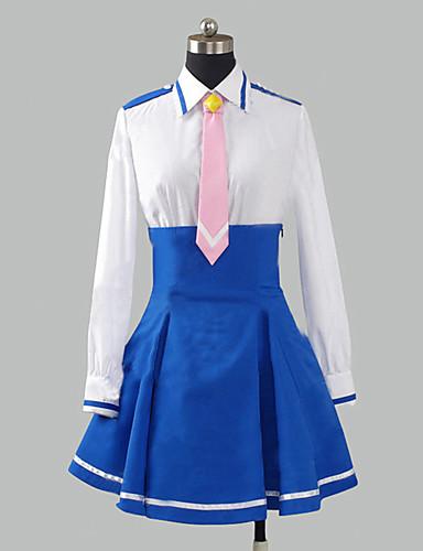 voordelige Cosplay & Kostuums-geinspireerd door PrettyCure Cure Happy Anime Cosplaykostuums Cosplay Kostuums / Schooluniformen Patchwork Lange mouw Hemd / Rok / Stropdas Voor Dames