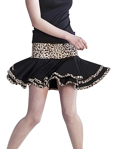 Dancewear viscosa spandex y falda de baile latino para damas