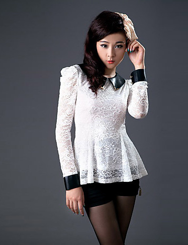 Zhi Yuan PU Leather PUHVIHIHA Lace Shirt (More Colors)