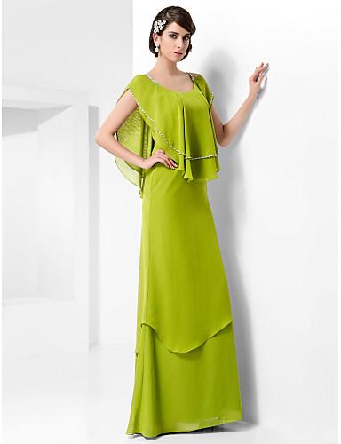 Sütun sapanlar Yere Kadar Şifon Boncuklama ile Resmi Akşam / Askeri Balo Elbise tarafından TS Couture®