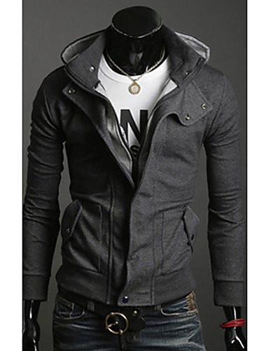 För män Cardigan Casual Fleece Hooded Sweate