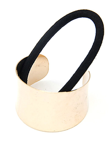 Women's Vintage Cute Casual Fabric Alloy Hair Tie Hollow Out