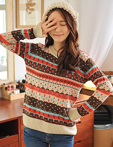 HYS femei geometrică model de pulover