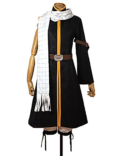 cheap Sale-Inspired by Fairy Tail Natsu Dragneel Anime Cosplay Costumes Cosplay Suits Patchwork Coat / Pants / Belt For Men's / Women's