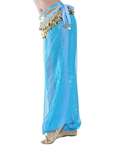 Göbek Dansı Alt Giyimler Kadın's Eğitim Şifon Payet Doğal Pantalonlar / Balo Salonu