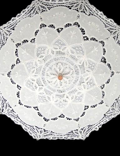Post Handle Lace Wedding Masquerade Umbrella Umbrellas 37.8