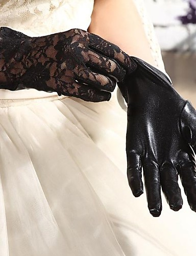 Elbow Length Fingertips Glove Spandex Paintcoat Bridal Gloves