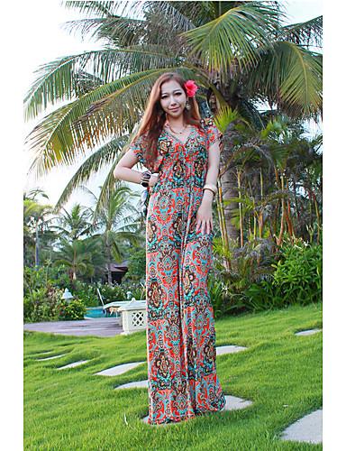 Kadın's Salaş Pantolon - Tek Renk Desen Ekran Rengi