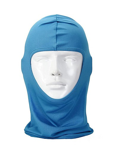 cheap Cycling Clothing-Balaclava Pollution Protection Mask Men's Women's Skiing Camping / Hiking Hunting Bike / Cycling Windproof Protective Solid Color Lycra Sky Blue Red Pink / Mountain Bike MTB / Road Bike Cycling
