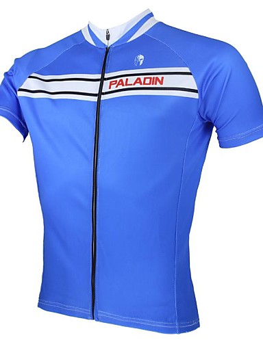 ed9571376 ILPALADINO Men s Short Sleeve Cycling Jersey Solid Color Bike Jersey Top  Breathable Quick Dry Ultraviolet Resistant Sports 100% Polyester Mountain Bike  MTB ...