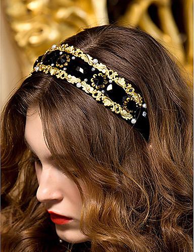 billige Hodebånd-Dame Rhinestone Headpiece-Bryllup / Spesiell Leilighet Pannebånd Svart