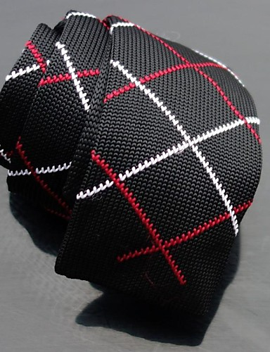 Men's Knitwear Neck Tie,Party Casual Plaid All Seasons