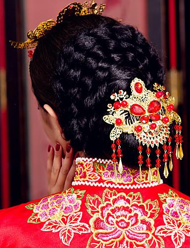 головка для волос с имитационной жемчужиной / горным хрусталем