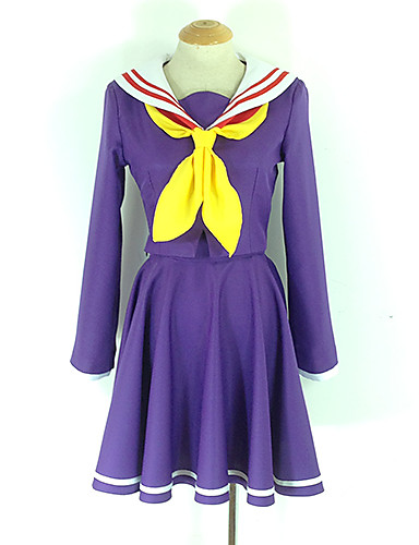 cc46dfdc4 ... No Life Shiro / Schoolgirls Anime Cosplay Costumes Cosplay Suits /  School Uniforms Solid Colored Long Sleeve Cravat / Coat / Dress For Men's /  Women's