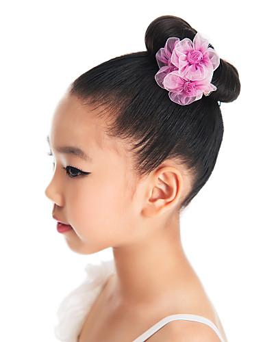 preiswerte Ballettbekleidung-Tanz Accessoires / Ballett Kopfbedeckungen Training Organza Blume