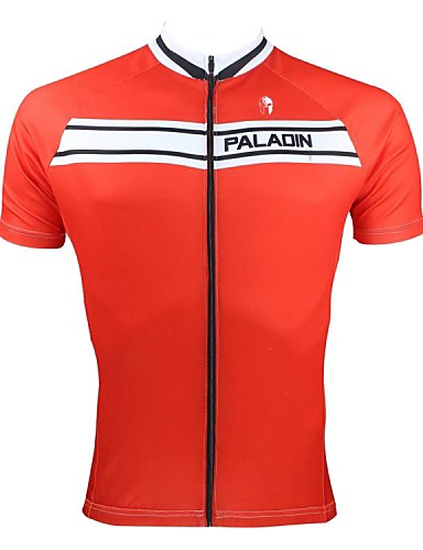 cheap Cycling Clothing-ILPALADINO Men's Short Sleeve Cycling Jersey - Red Bike Jersey Top Breathable Quick Dry Ultraviolet Resistant Sports 100% Polyester Mountain Bike MTB Road Bike Cycling Clothing Apparel