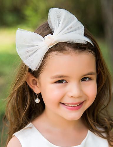 tulle bowknot floare fată pentru copii 'cap de bluză stil elegant