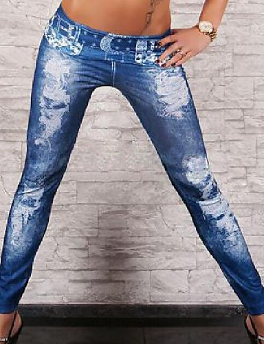 Vrouw Denim Legging,Denim Medium