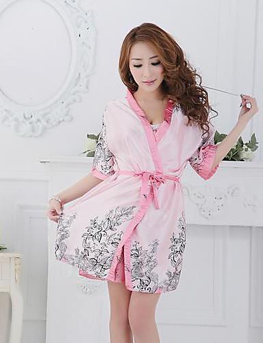 Feminin Capoate Pijamale Dantelă / Nailon Imprimeu Roz