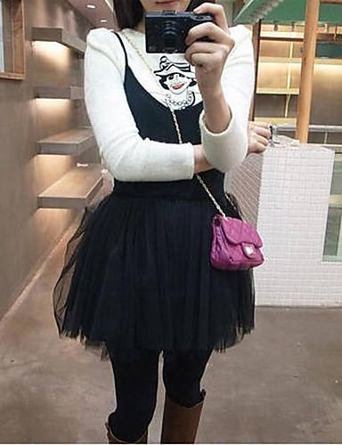 Damen Niedlich Street Schick Hülle Kleid - Gitter, Solide