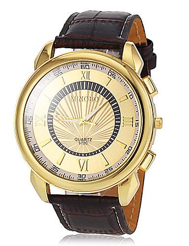 Herrn Armbanduhr Armbanduhren für den Alltag PU Band Charme / Kleideruhr Braun