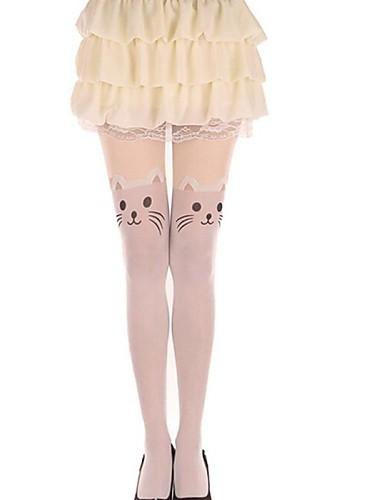 voordelige Kousen-Prinses Dames Sweet Lolita Sokken en kousen Dij Hoge Sokken Kat dier Fluweel Lolita-accessoires / Hoge Elasticiteit