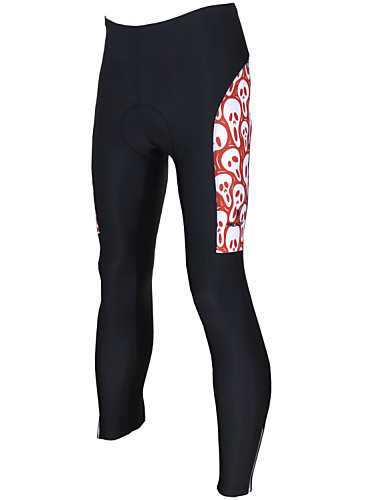 cheap Cycling Clothing-ILPALADINO Men's Unisex Cycling Tights Bike Pants / Trousers Pants Windproof Breathable 3D Pad Sports Skull Lycra Winter Black Road Bike Cycling Clothing Apparel Relaxed Fit Bike Wear / Quick Dry