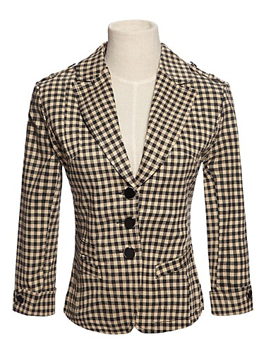 Dame Chic & Moderne Kjole - Pledd / Tern, Moderne Stil