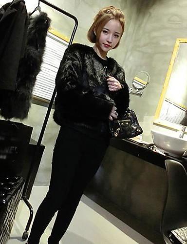 Dame Chic & Moderne Kjole - Ensfarget, Moderne Stil