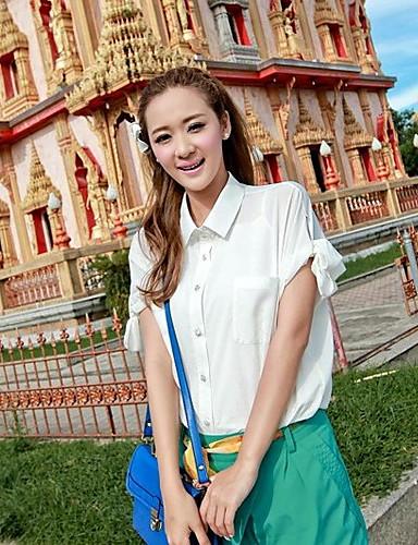 Damen Solide-Grundlegend Hemd
