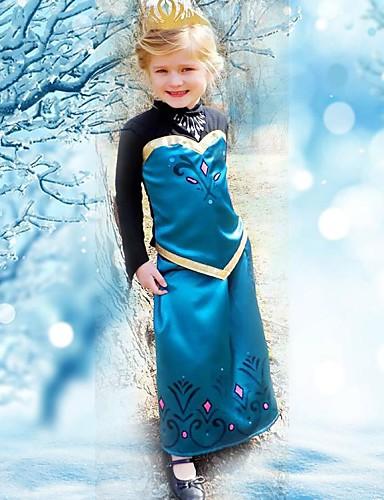 Kızın yazlık elbise prenses elbise uzun kollu elbise