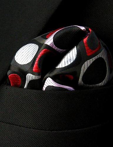 qh3 shlax&μοτίβο φτερό ροζ κόκκινο μαύρο τετράγωνο τσέπη mens μαντήλια μαντήλι